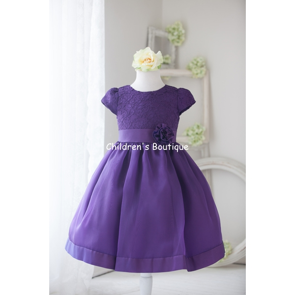 Floral Detail Bodice Flower Girl Dress