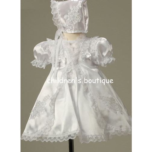 Christening Gown With Matching Lace Edged Robe.