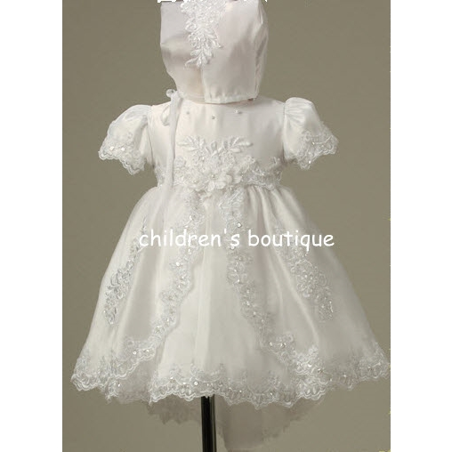 Baptismal Gown With Bonnet :our prces $33.14 Save: 15% off