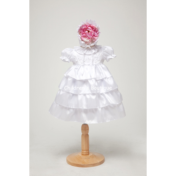 Tiered Taffeta Infant Formal Dress