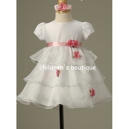 Tiered Organza Infant Party Dress
