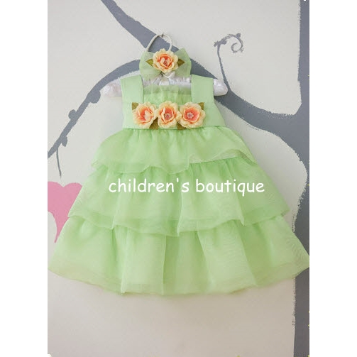 Infant Dress With Tiered Organza Layers