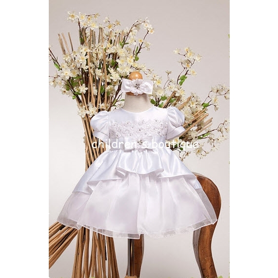 White Satin Baby Formal Dress