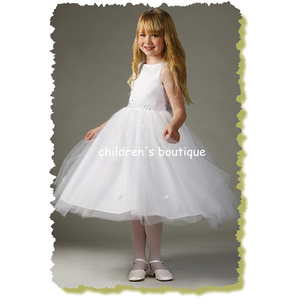 Rhinestone Flower Girl Dress