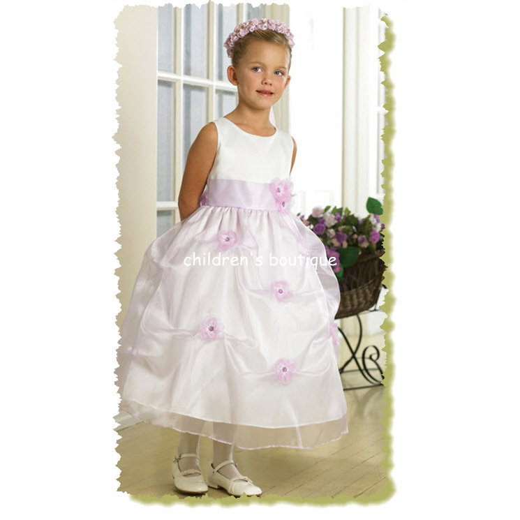 Satin Flower Girl Dress With Pick-Up Skirt