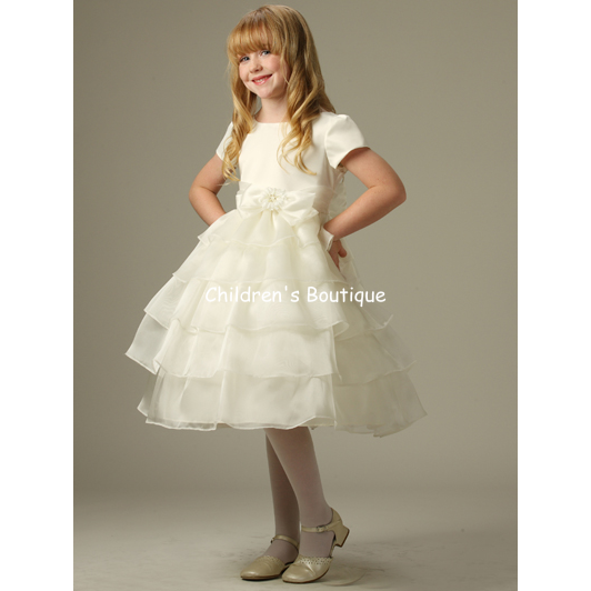 Ruffle Organza Girls Dress