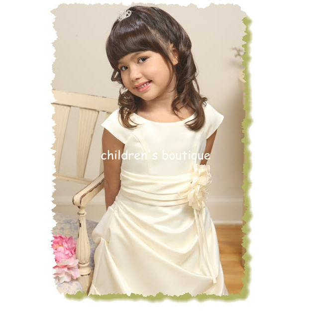 Satin Floor Length Flower Girl Dress
