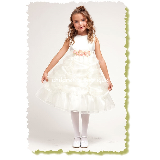 """Adelle"" Organza Flower Girl Dress"