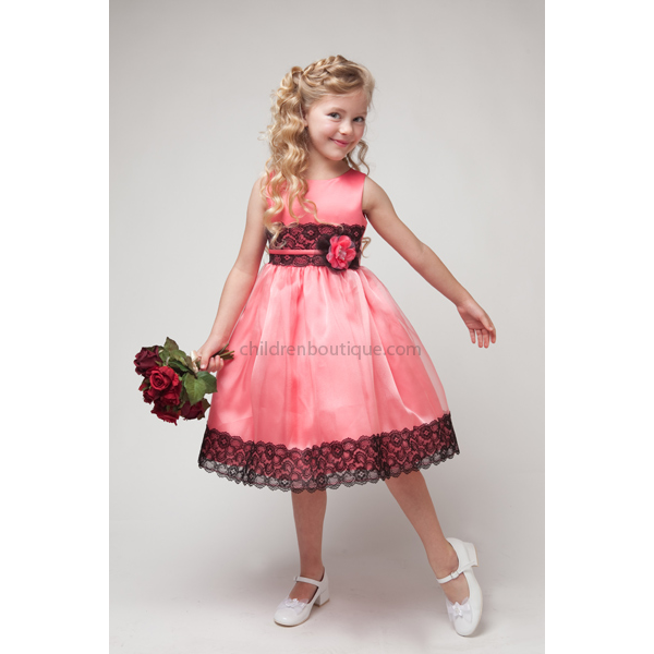 Lace Organza Flower Girl Dress