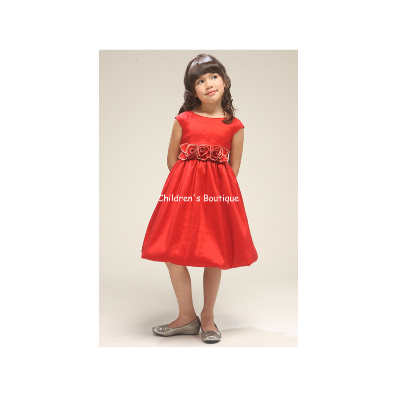 Taffeta Girls Holiday Dress