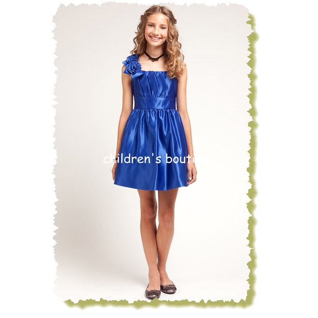 Satin Girls Formal Dress