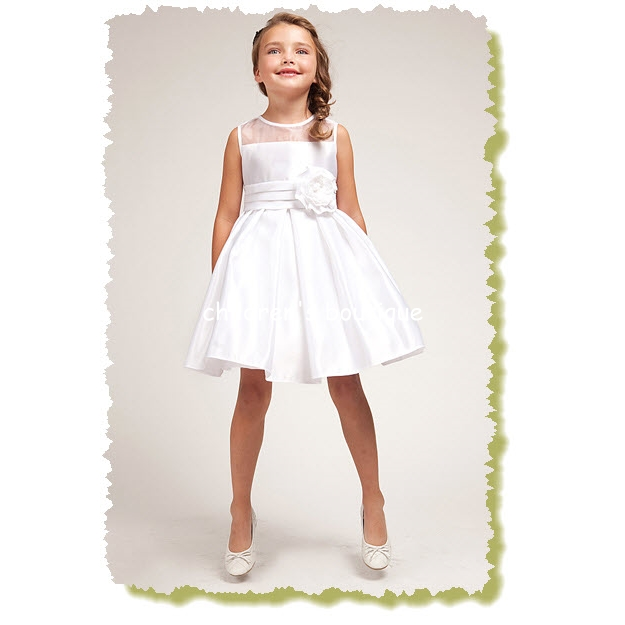 """Daria"" Satin Flower Girl Dress"