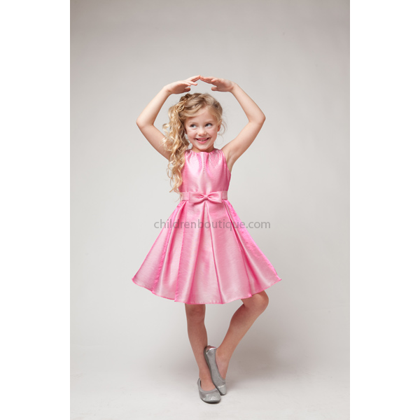 Shantung Girls Party Dress