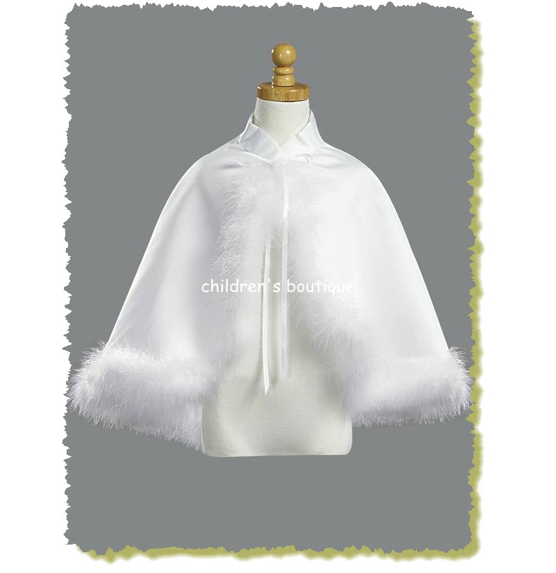 Satin Cape With Fur