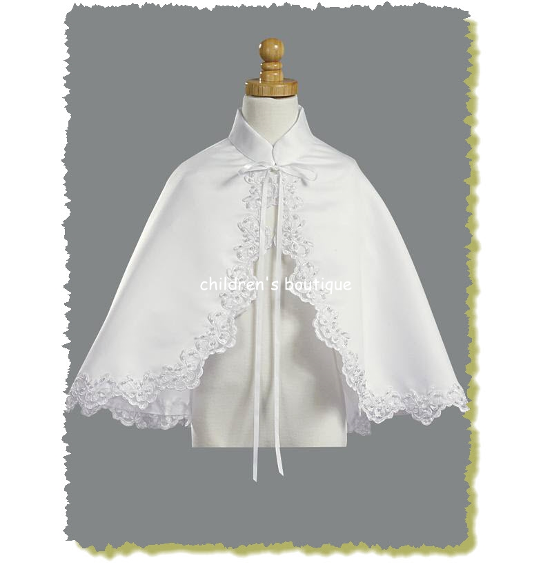 Satin Cape With Lace