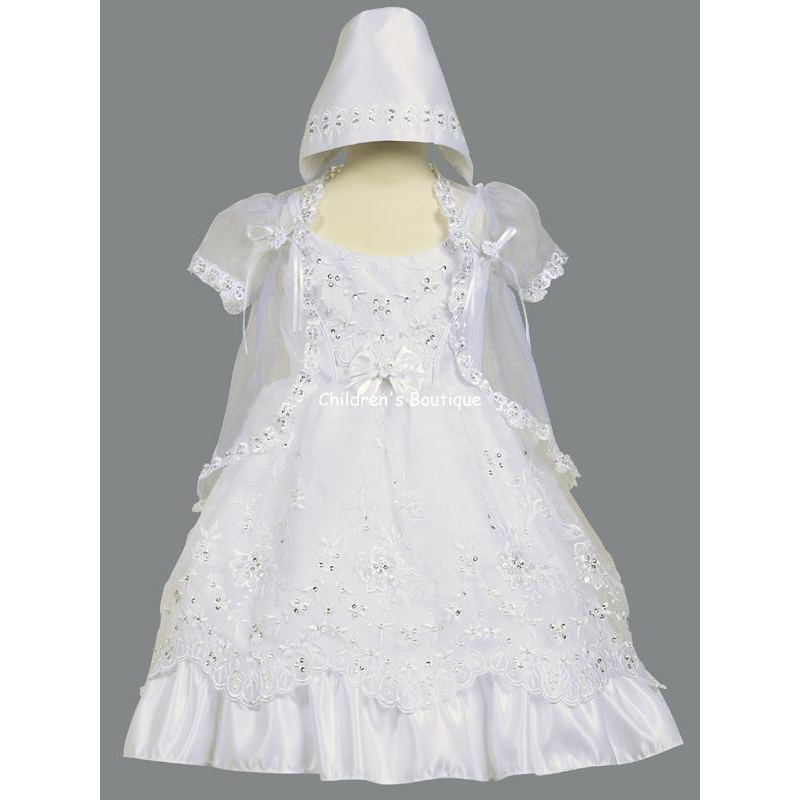 Sequin Organza Baptism Gown