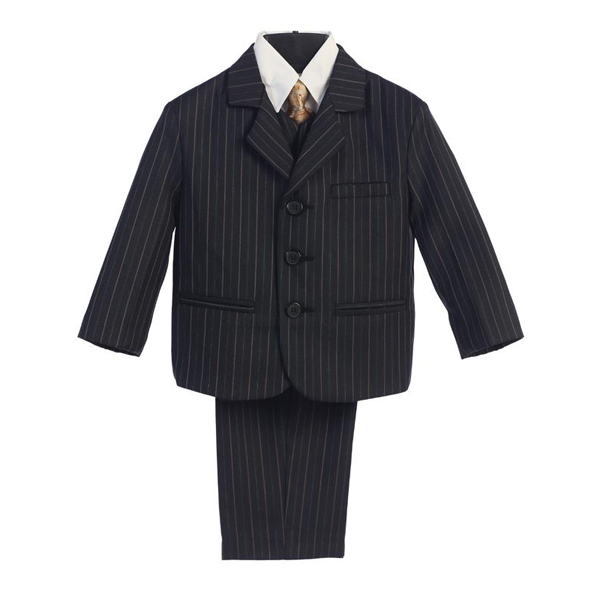 Black Boys Pin Stripe Suit