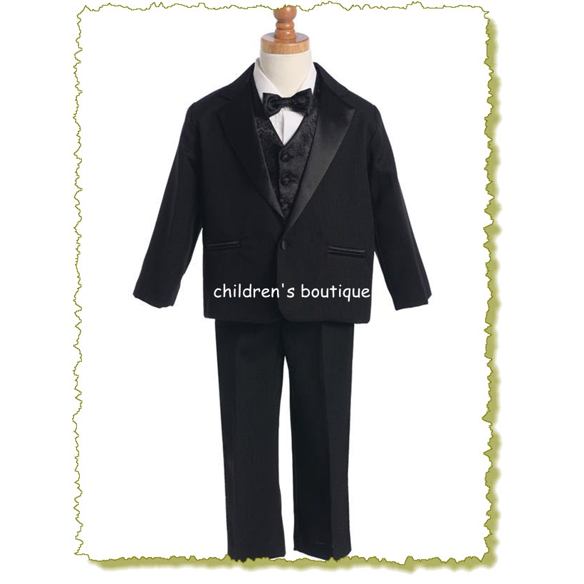 Boys Tuxedo With Vest And Bowtie