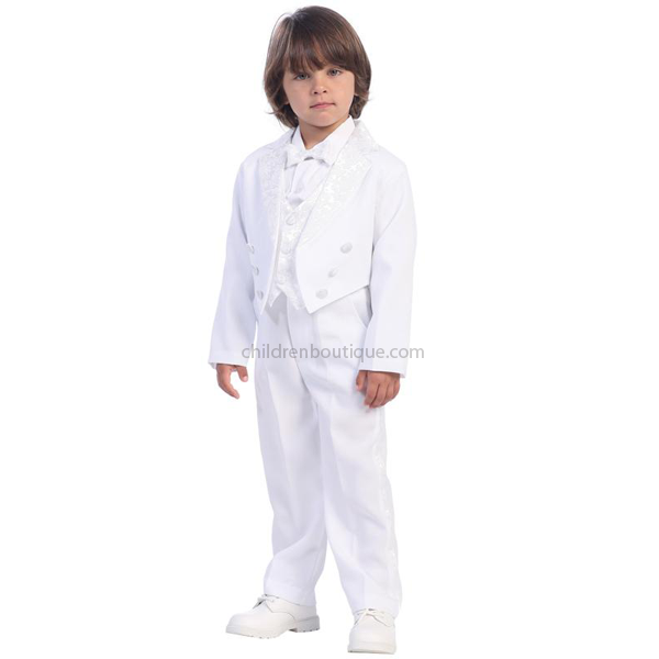 Boys White Tuxedo With Tails