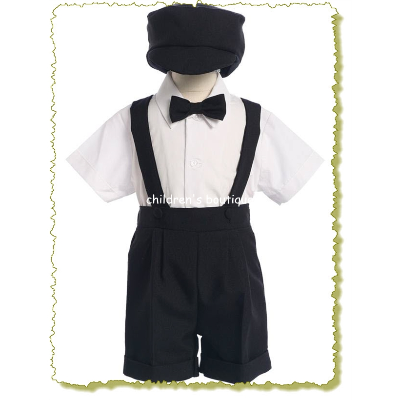 Boys Dresswear With Suspender Short Set