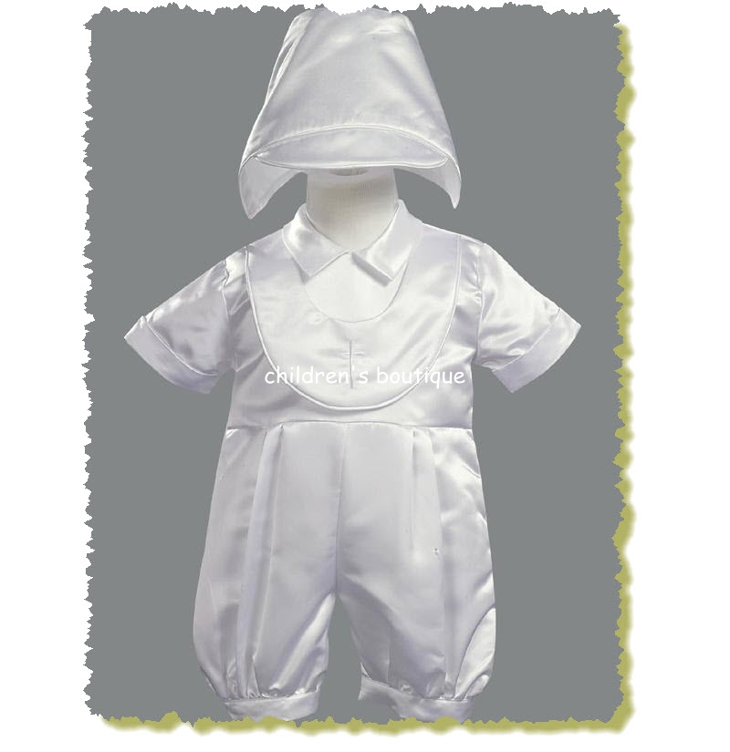 Christening Suit With Bib