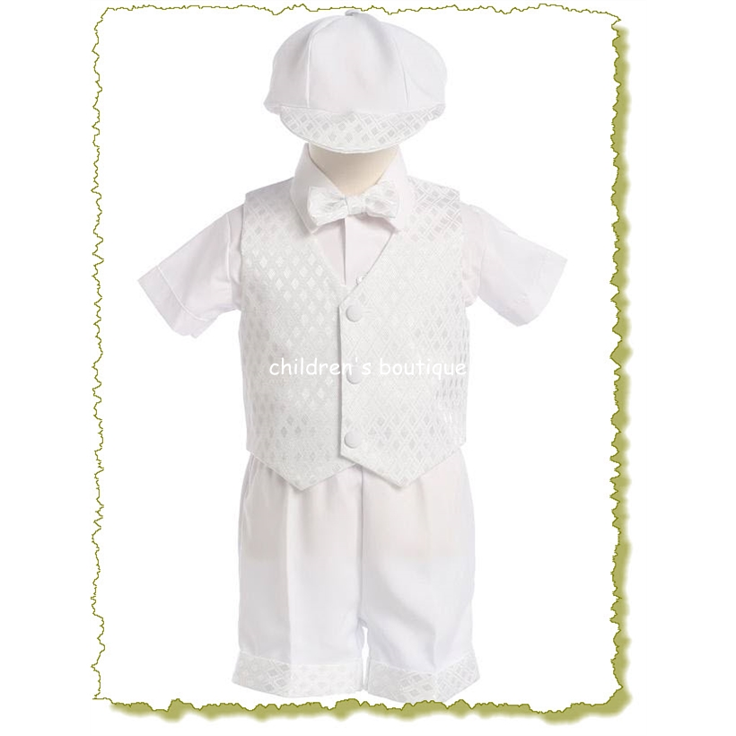 Toddler Boy Suit With Shorts And Vest