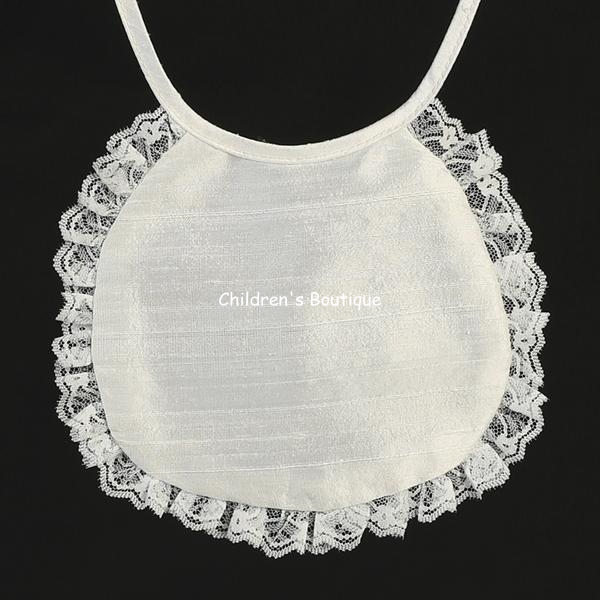 Silk Baby Girls Baptism Bib