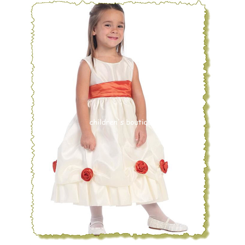 Taffeta Flower Girl Dress