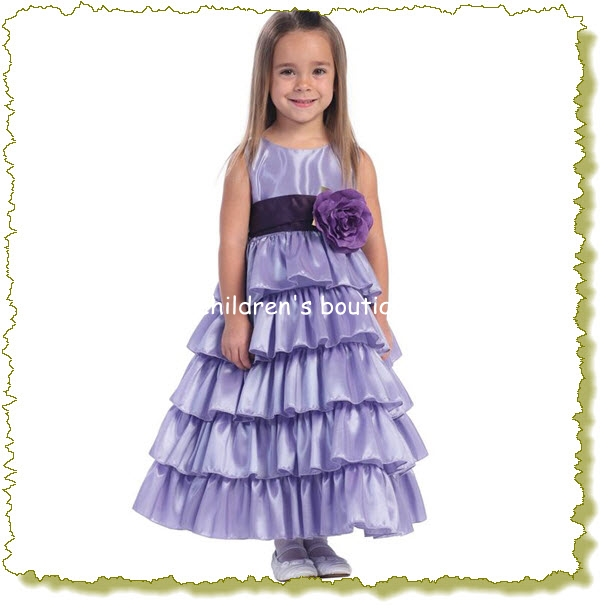 """Aviana"" Satin Flower Girl Dress"