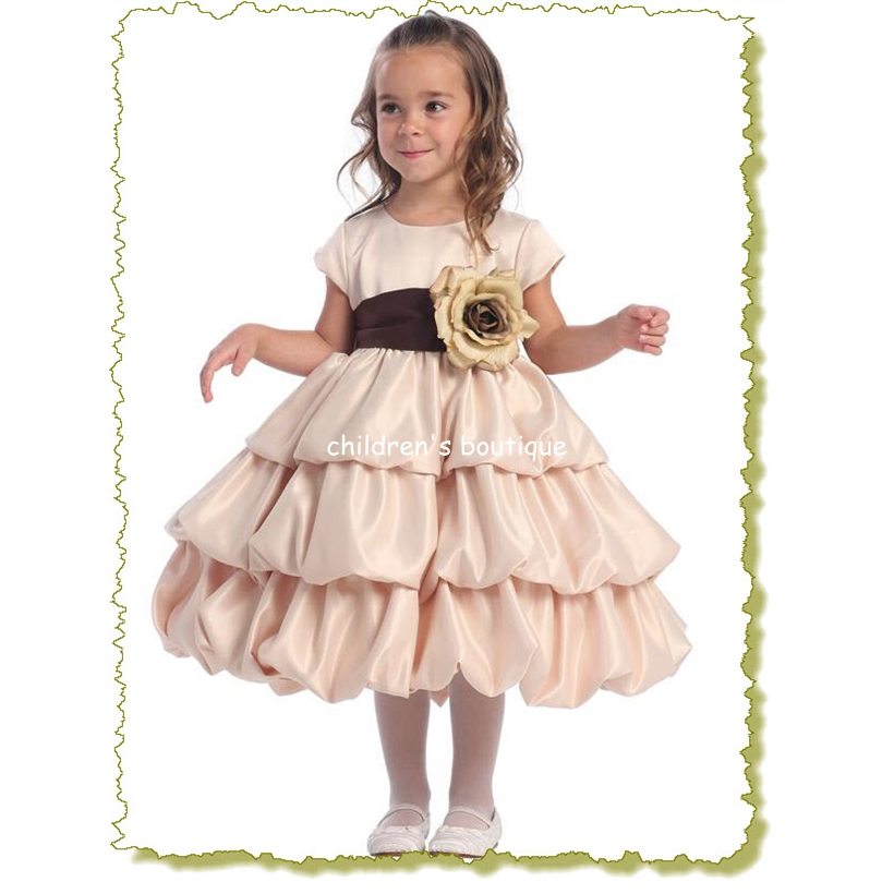 """Lila"" Satin Infant Flower Girl Dress"