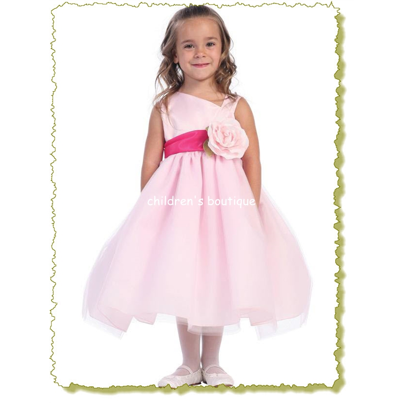 """Penny"" Satin Flower Girl Dress"