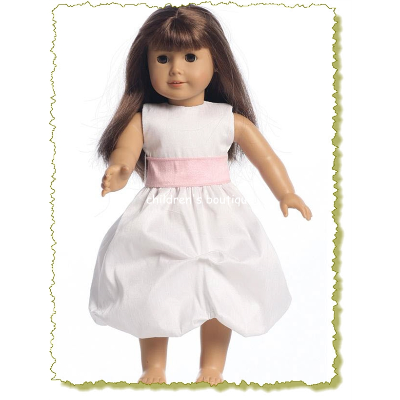 Shantung Organza Doll Flower Girl Dress
