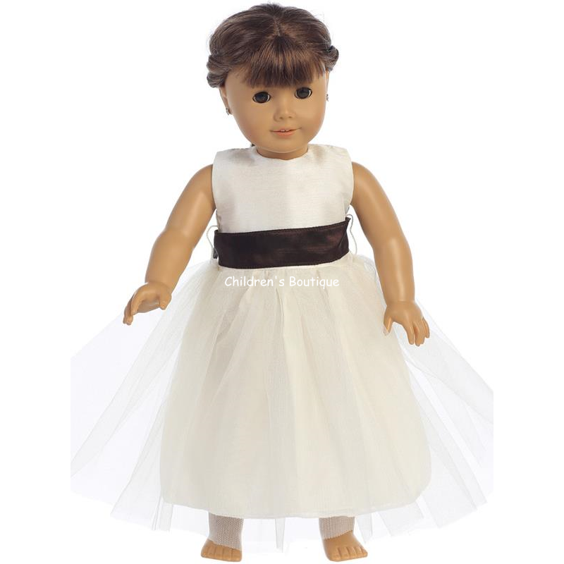 "Tulle Flower Girl Dress For 18"" Doll"