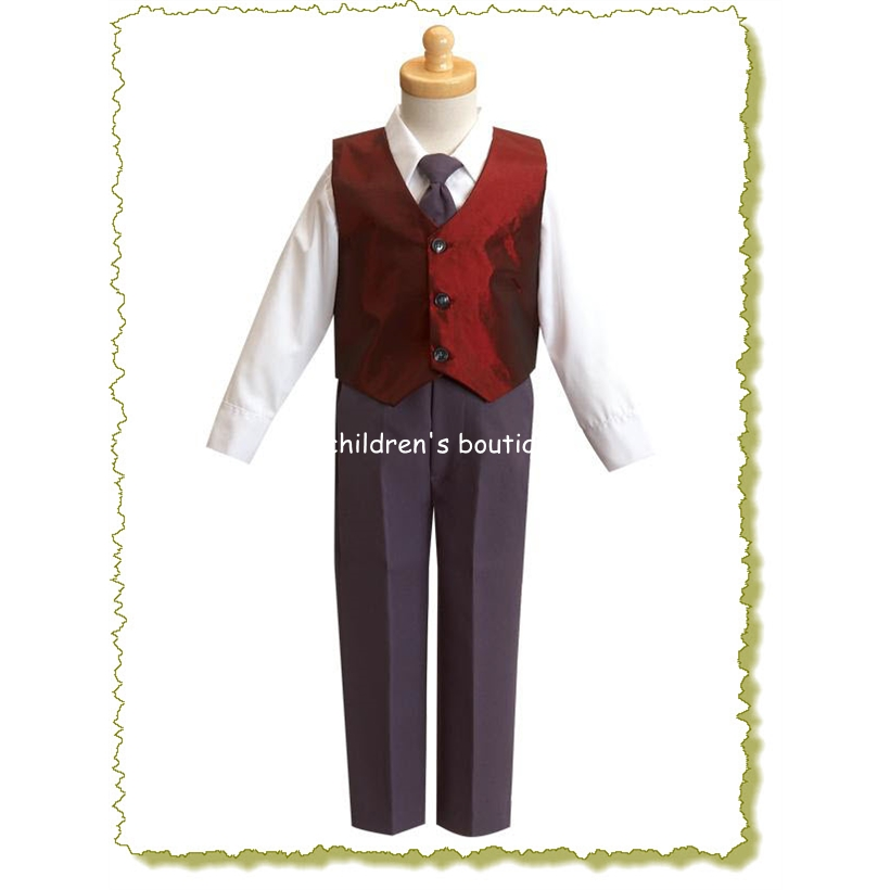 Taffeta Vest and Pant Boys Formal Wear