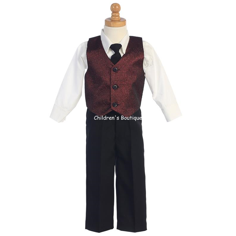 Boys Holiday Vest and Pant Set