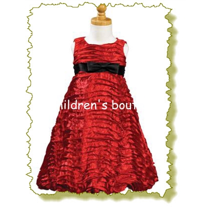 Ribbon Taffeta Holiday Dress