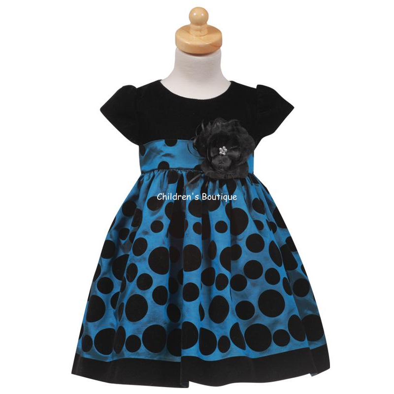 Polka Dot Girls Holiday Dress