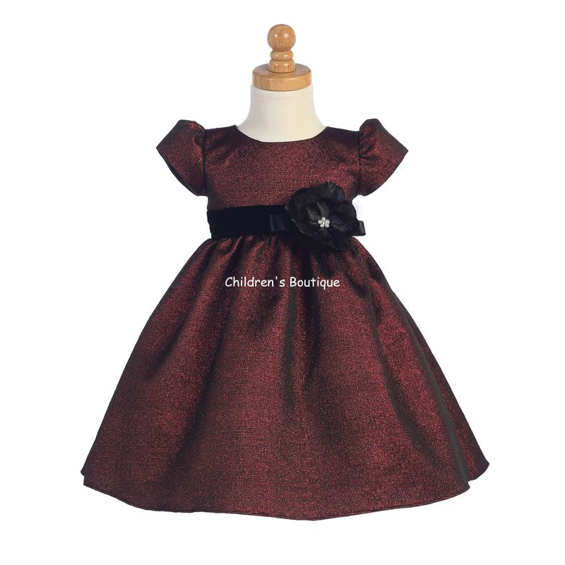Girls Burgundy Holiday Dress