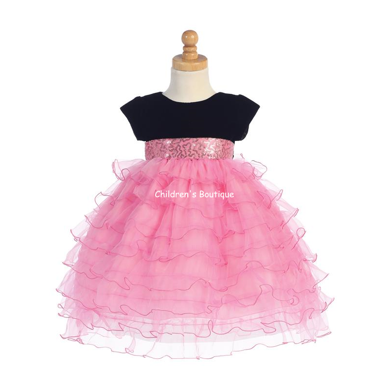 Ruffled Organza Girls Holiday Dress