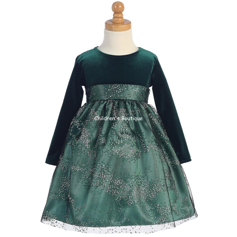 Sparkle Tulle Girls Holiday Dress