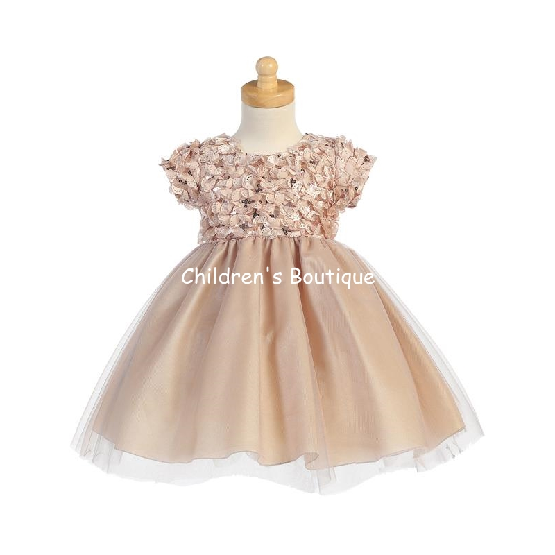 Ribboned Tulle Bodice With Tulle Skirt