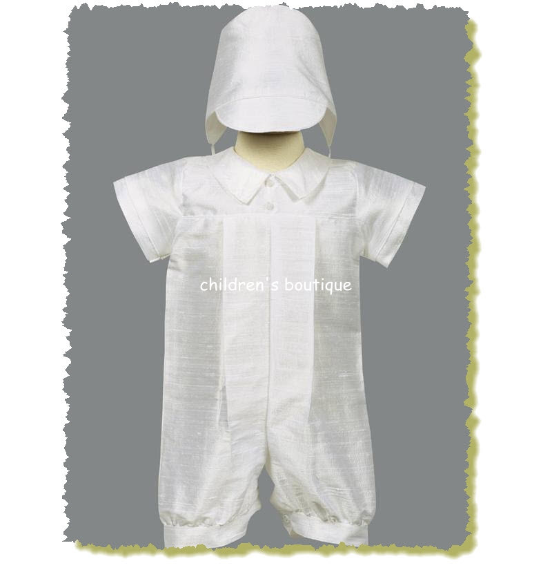 Conner Silk Christening Suit
