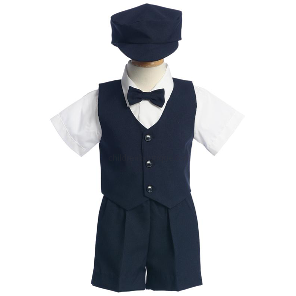 Boys Vest and Short Set With Bow Tie