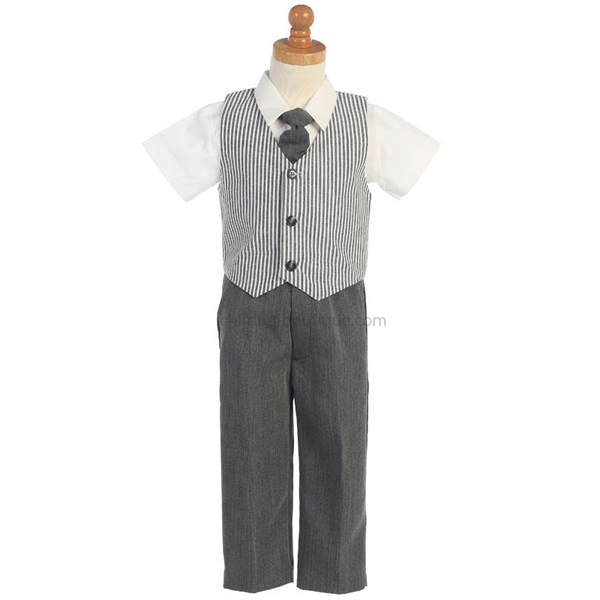 Seersucker Vest And Pant set