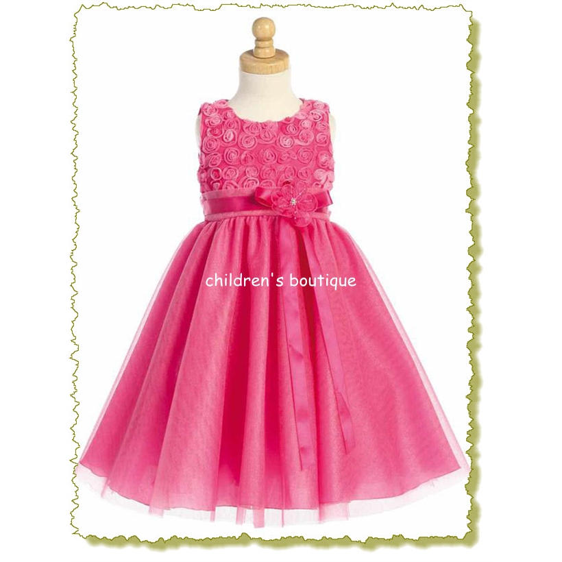 Embroidered Tulle Baby Dress