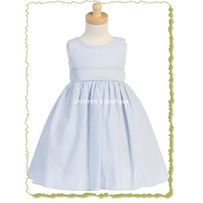 Seersucker Baby Girl Dress