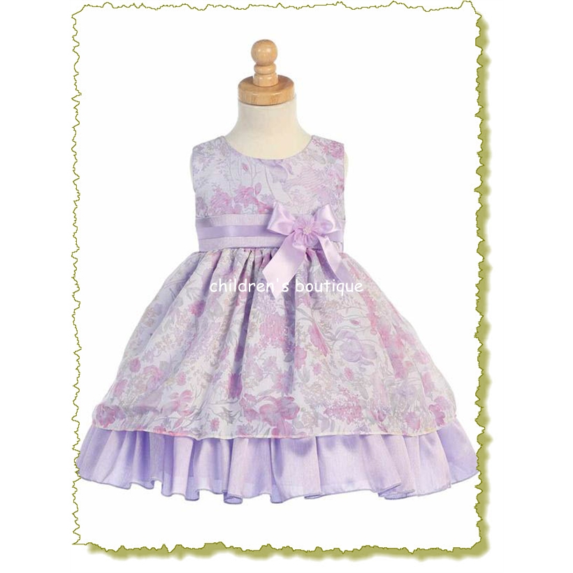Floral Tencel Infant Formal Dress