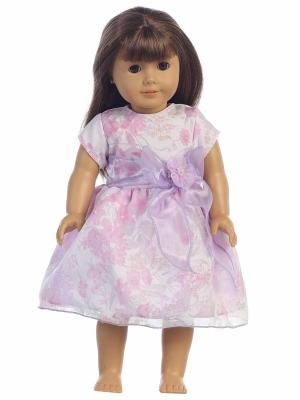"18"" Doll Dress: Floral Tencel Dress"