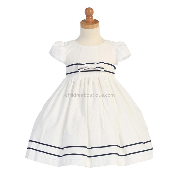 Seersucker Girls Dress