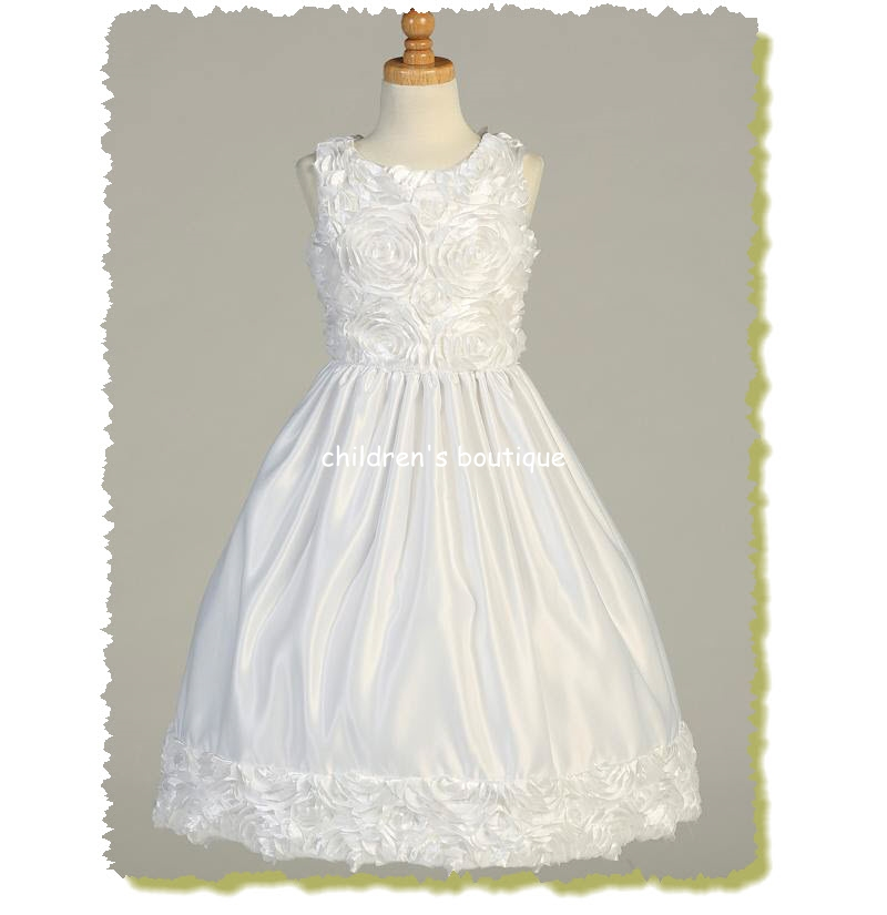 Floral Ribbon Communion Dress